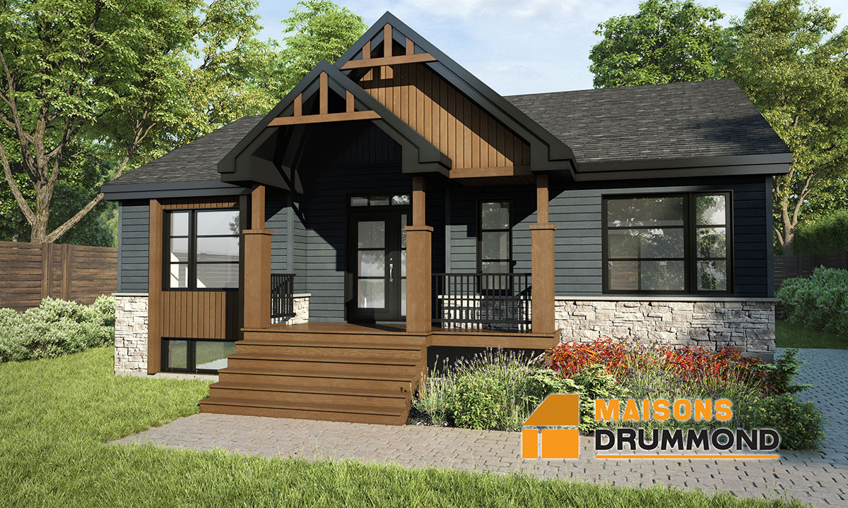 maisons drummond maisons pr fabriqu es usin es plan. Black Bedroom Furniture Sets. Home Design Ideas