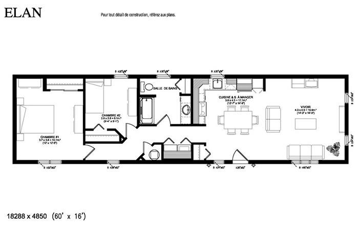 Lan uni modulaires maisons drummond - Maison mobile neuve ...